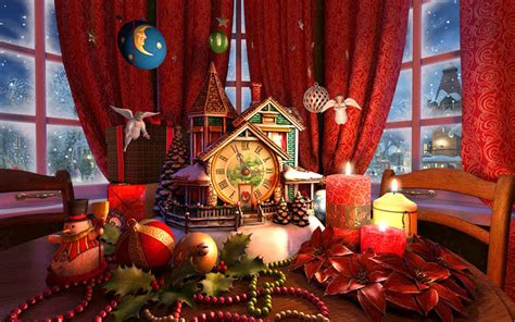 Christmas Evening 3D Screensaver - Download Animated 3D