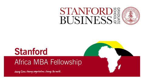 Stanford Africa MBA Fellowship to study at Stanford