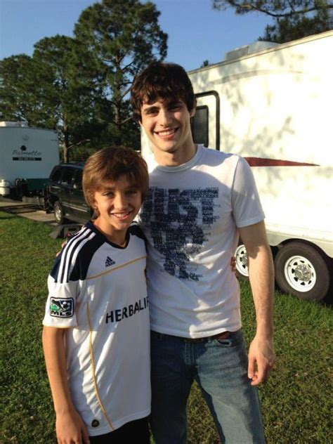 A young Matthew Daddario with
