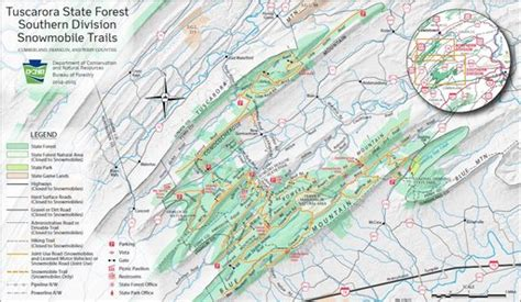 Tuscarora State Forest Snowmobile Map - Maplets