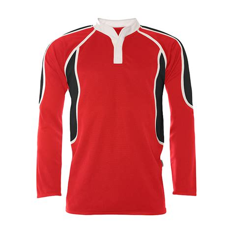 Myton Boys Pro tec reversible rugby top-red/black | Stitch