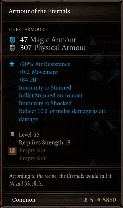 Armour of the Eternals   Divinity Original Sin 2 Wiki