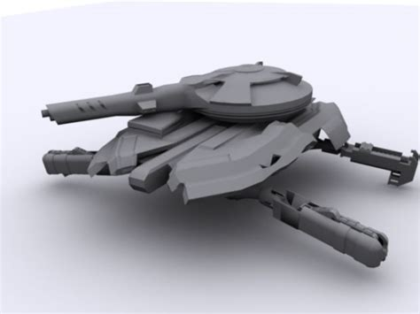 Rail Gun Hover Tank (Entrenched) image - Red Alert 3