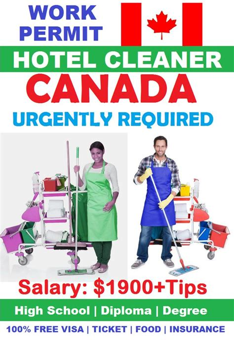 Hotel Cleaning Jobs in CANADA for Foreigners | JOB