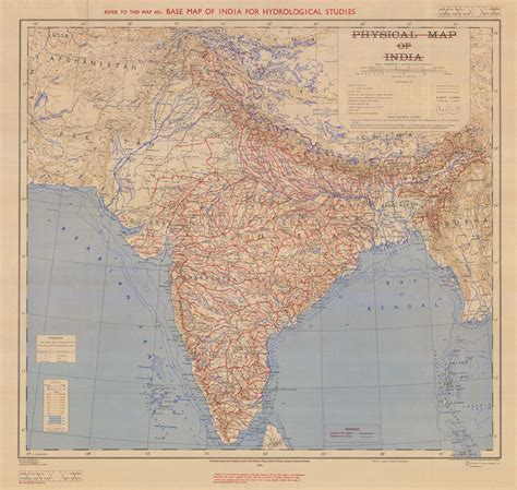 Base Map of India for Hydrological Studies