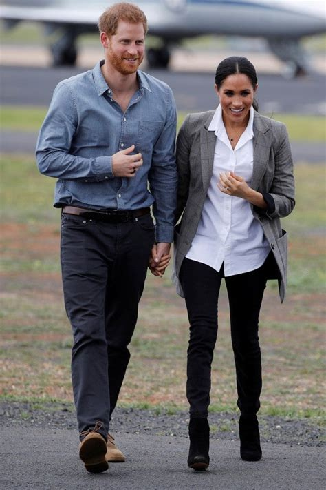 Meghan Markle and Prince Harry Go Casual During Day 2 of