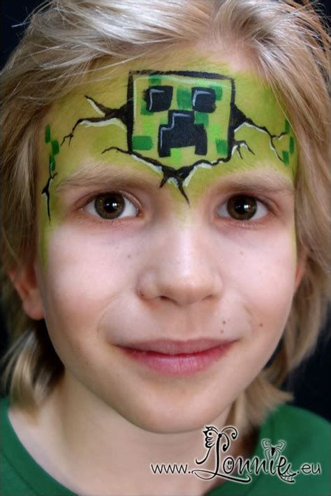 Lonnies Ansigtsmaling Minecraft Creeper Face paint