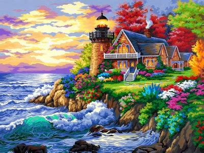 Gorgeous Lighthouse Scenery jigsaw puzzle in Ruth Brant