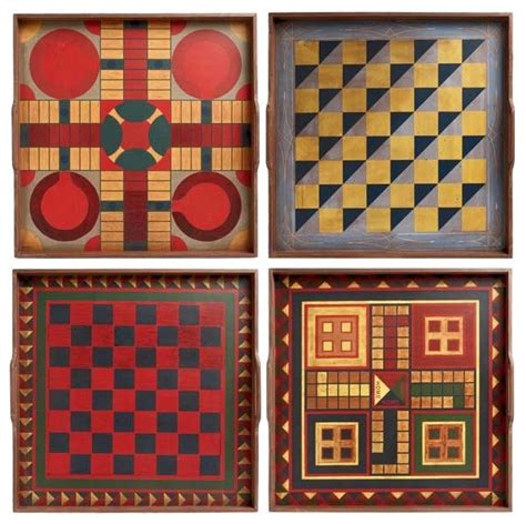 Folk Art Game Boards traditional-kids-toys-and-games