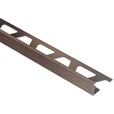 Schluter Jolly Brushed Antique Bronze Anodized Aluminum 1